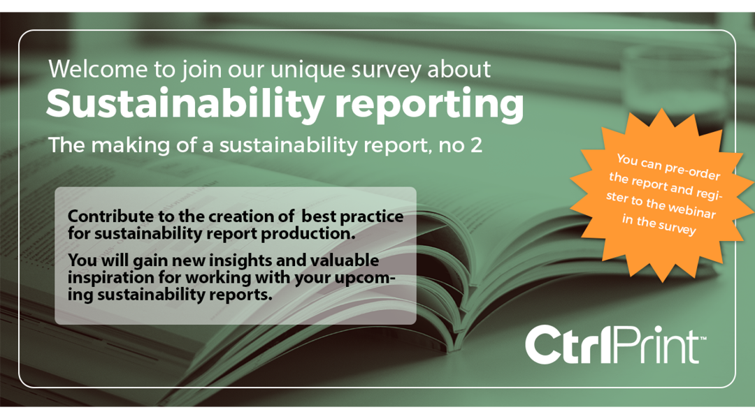 Preliminary results from 'The making of a sustainability report, no 2'